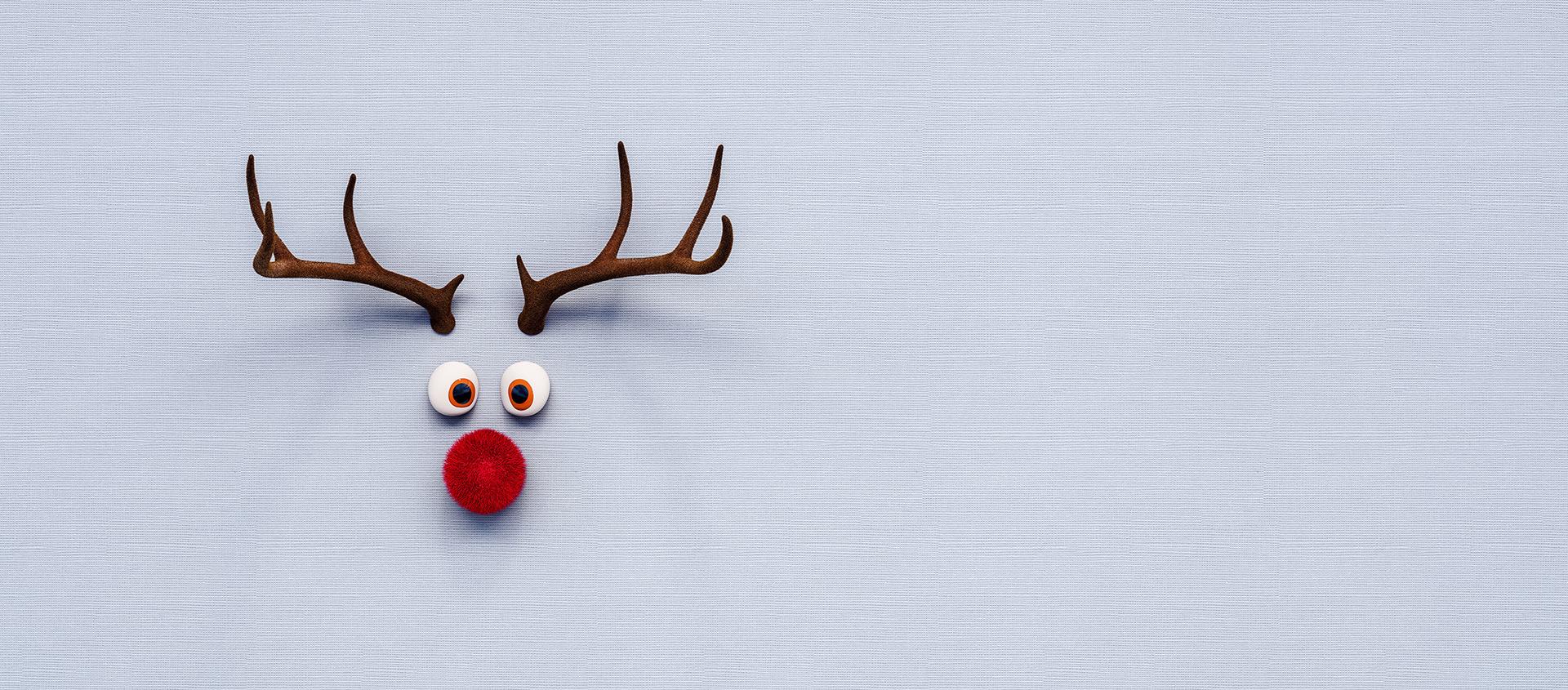 Weihnachtsmotiv Rentierrendering
